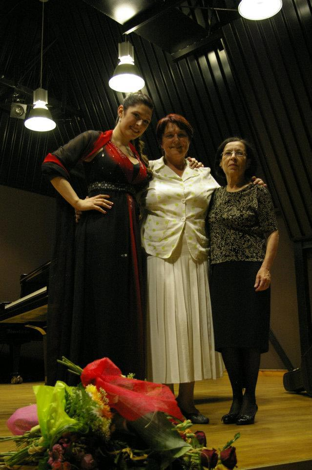 After Master Degree Recital, prof. M. Czechowska-Królicka, prof. A. Faryniarz