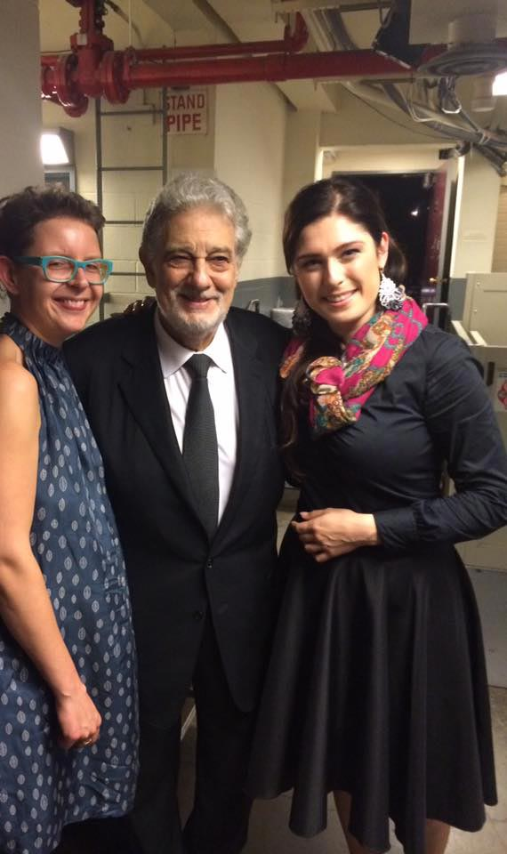 Marcelina Beucher with maestro Domingo